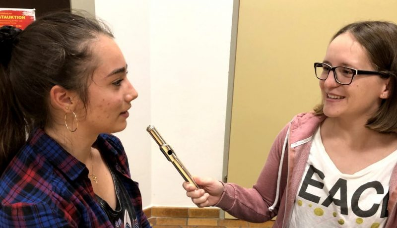 Hannah Steiner und Christina Neubauer im Gespräch